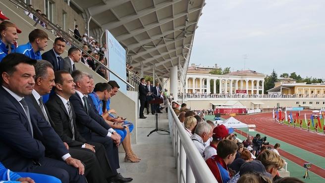 На церемонии открытия чемпионата России по лёгкой атлетике