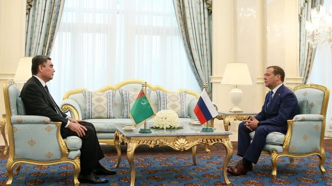 Встреча с Президентом Туркменистана Гурбангулы Бердымухамедовым