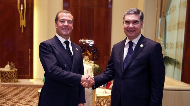 Встреча с Президентом Туркменистана, Председателем Кабинета министров Туркменистана Гурбангулы Бердымухамедовым