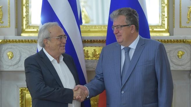 Встреча Сергея Приходько с Министром культуры и спорта Греции Аристидисом Балтасом