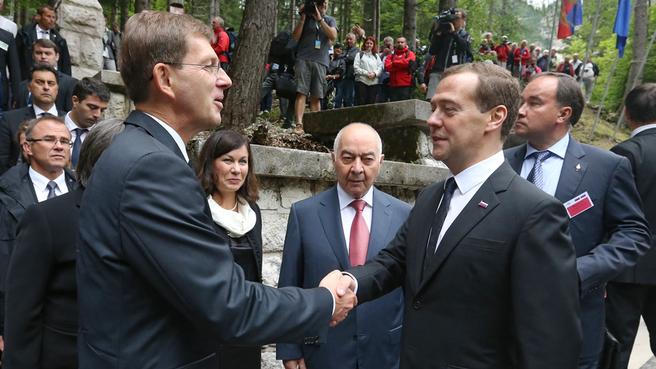 With Slovenian Prime Minister Miroslav Cerar