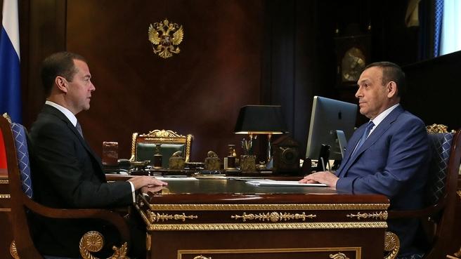 Встреча с временно исполняющим обязанности главы Республики Марий Эл Александром Евстифеевым
