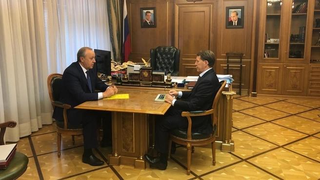 Рабочая встреча Алексея Гордеева с губернатором Саратовской области Валерием Радаевым