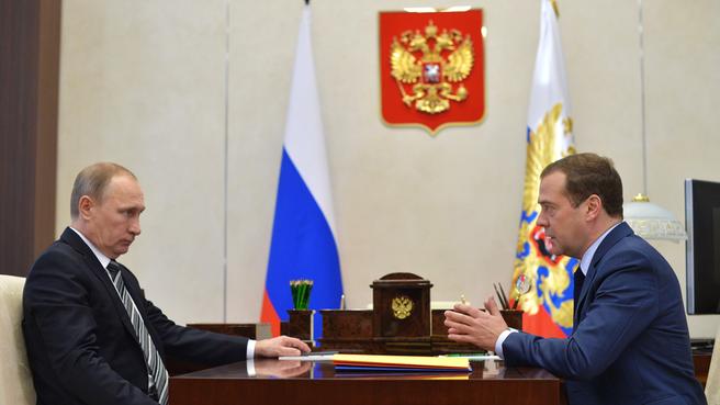 Рабочая встреча с Президентом Владимиром Путиным. Фото пресс-службы Президента России