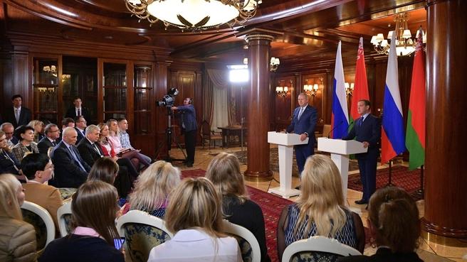Заявления Дмитрия Медведева и Сергея Румаса для прессы по завершении российско-белорусских переговоров