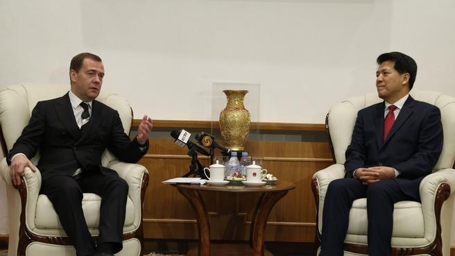 Беседа с Чрезвычайным и Полномочным Послом КНР в Российской Федерации Ли Хуэем
