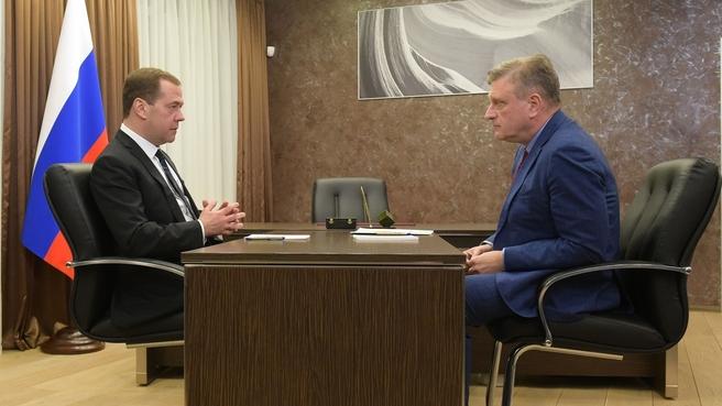 Встреча с временно исполняющим обязанности губернатора – председателя правительства Кировской области Игорем Васильевым