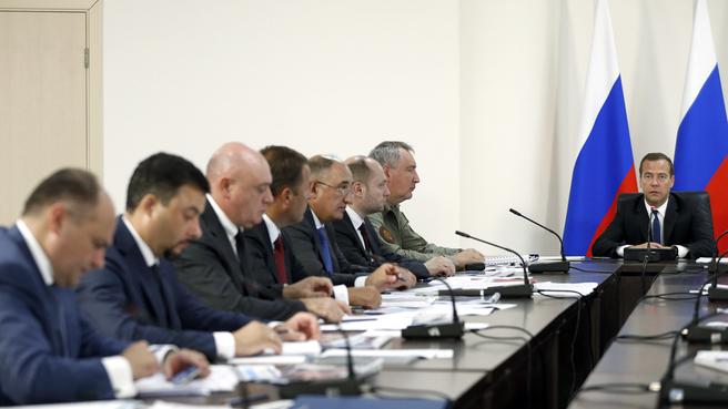 Совещание о ходе строительства космодрома Восточный