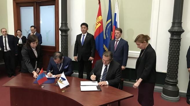 Подписание в рамках форума «Россия – Монголия. Ведение бизнеса на едином рынке ЕАЭС» плана мероприятий между Евразийской экономической комиссией и правительством Монголии на 2020-2021 годы