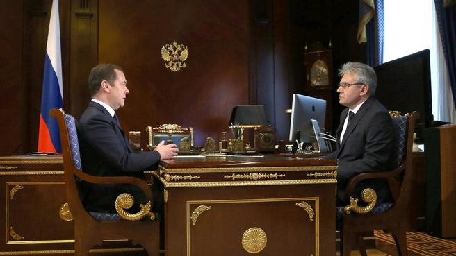 Встреча с президентом Российской академии наук Александром Сергеевым