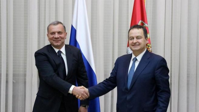 Рабочий визит Юрия Борисова в Сербию. С Первым вице-премьером, Министром иностранных дел Сербии Ивицей Дачичем