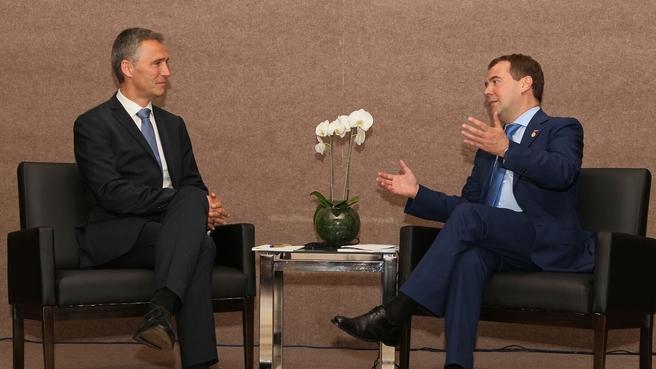 Встреча с Премьер-министром Норвегии Йенсом Столтенбергом
