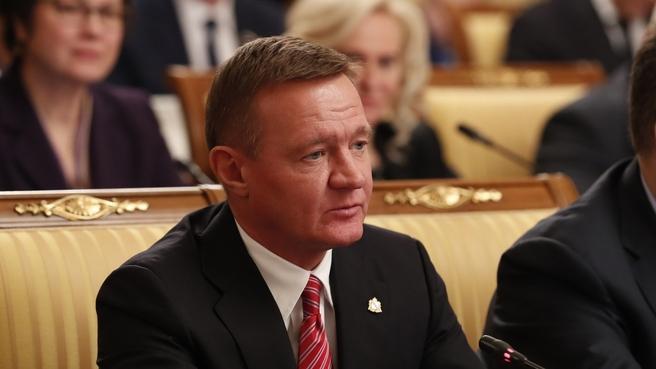 Губернатор Курской области Роман Старовойт на заседании Правительства