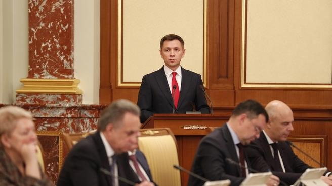 Доклад Константина Носкова на заседании Правительства