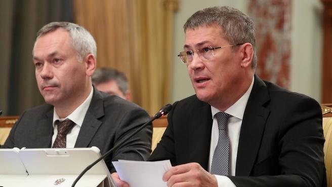 Сообщение главы Республики Башкортостан Радия Хабирова на заседании Правительства