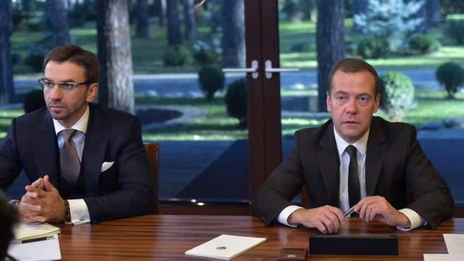 Встреча с членами Экспертного совета при Правительстве. С Министром Михаилом Абызовым