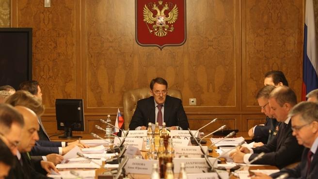 Заседание Постоянно действующей противоэпизоотической комиссии Правительства