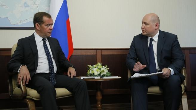 Встреча с временно исполняющим обязанности губернатора Севастополя Михаилом Развожаевым