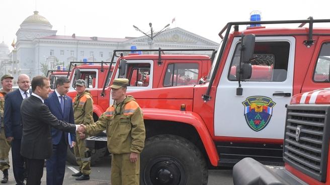 Осмотр специализированной лесопожарной техники в Чите