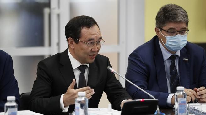 Глава Республики Саха (Якутия) Айсен Николаев на заседании Правительственной комиссии по социально-экономическому развитию Дальнего Востока