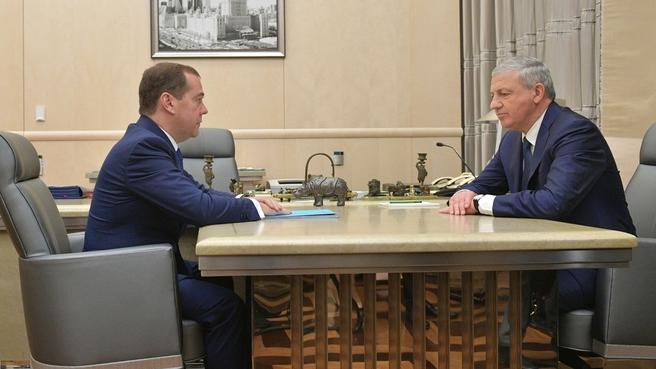 Встреча с главой Республики Северная Осетия – Алания Вячеславом Битаровым