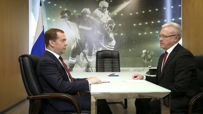 Встреча с губернатором Красноярского края Александром Уссом