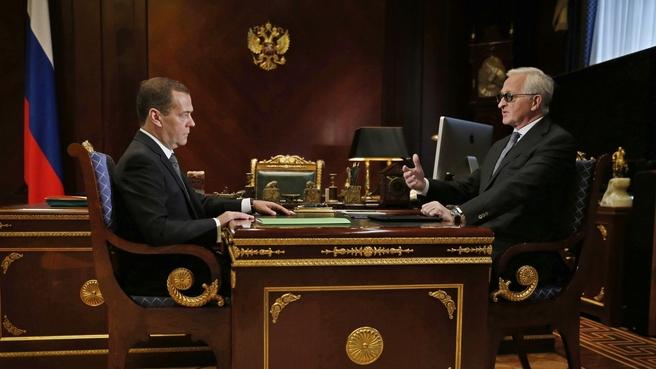 Встреча с президентом Российского союза промышленников и предпринимателей Александром Шохиным