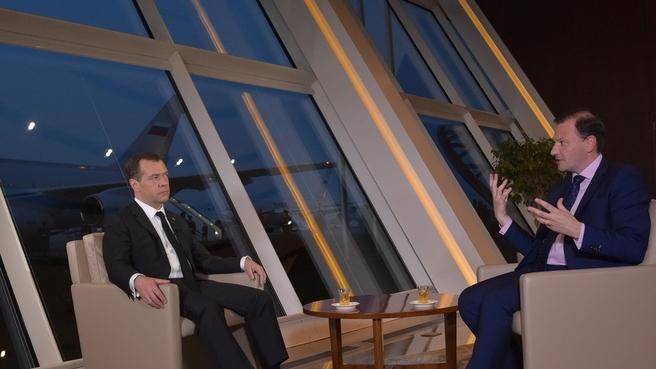 Интервью ведущему программы «Вести в субботу» Сергею Брилёву