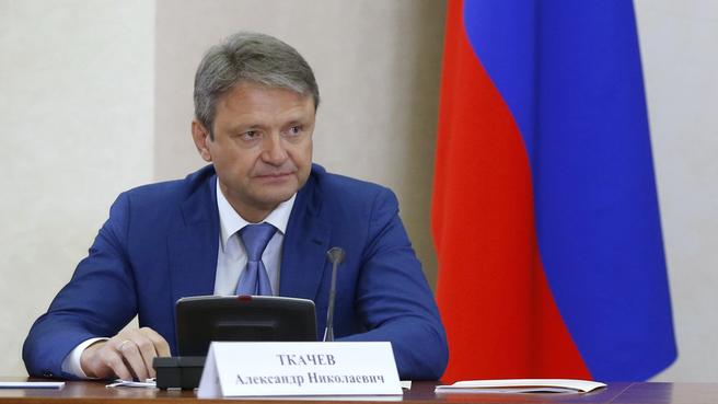 Доклад Александра Ткачева на селекторном совещании о ходе сельскохозяйственных уборочных работ