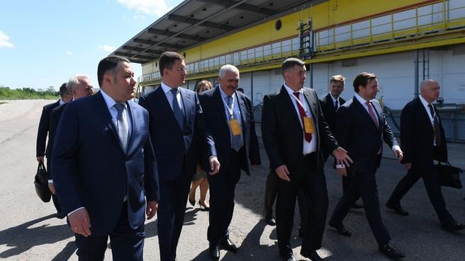 Посещение завода по производству смазочных материалов концерна «Шелл» в Торжке