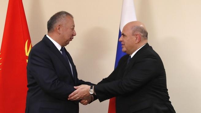 Meeting with Prime Minister of the Kyrgyz Republic Kubatbek Boronov