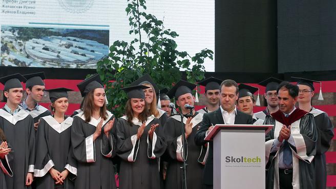 Выступление Дмитрия Медведева перед выпускниками Сколковского института науки и технологий