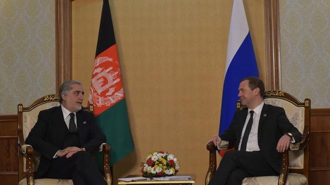 Беседа с Главным исполнительным лицом Исламской Республики Афганистан Абдуллой Абдуллой