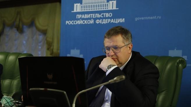 Алексей Оверчук во время встречи с Президентом Всемирного банка  Дэвидом Малпассом