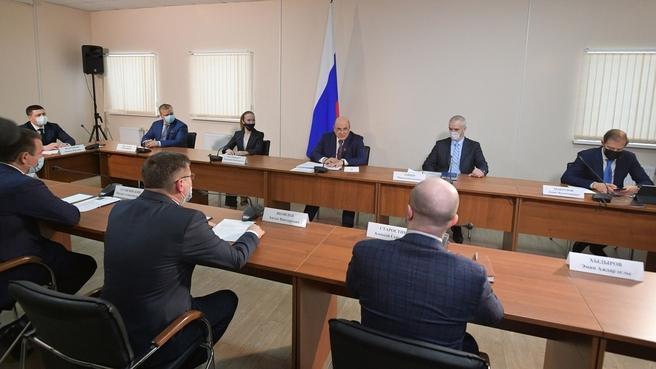 Встреча Михаила Мишустина с резидентами особой экономической зоны «Моглино»