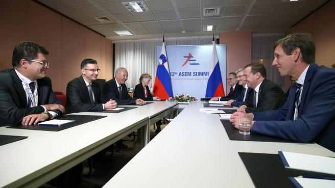 Встреча с Премьер-министром Словении Марьяном Шарецем