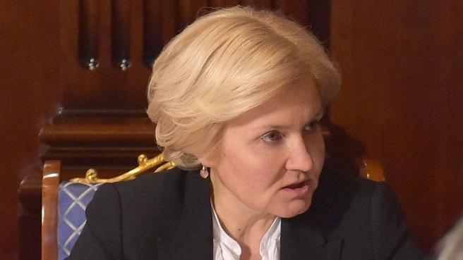 Ольга Голодец на совещании с вице-премьерами
