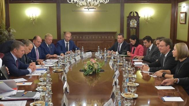 Встреча Дмитрия Козака с главой федеральной земли Тироль (Австрия) Гюнтером Платтером