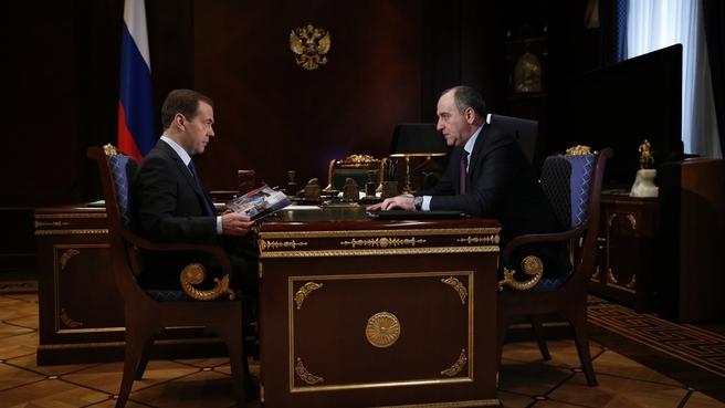 Встреча с временно исполняющим обязанности главы Карачаево-Черкесской Республики Рашидом Темрезовым
