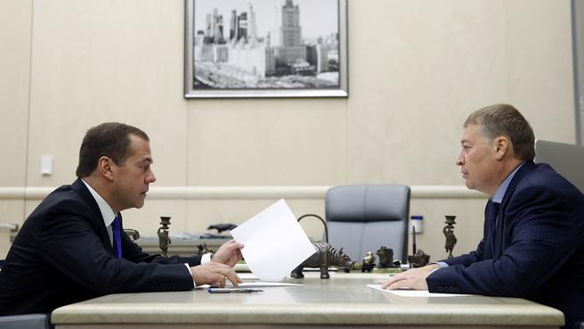Рабочая встреча с главой Республики Марий Эл Леонидом Маркеловым