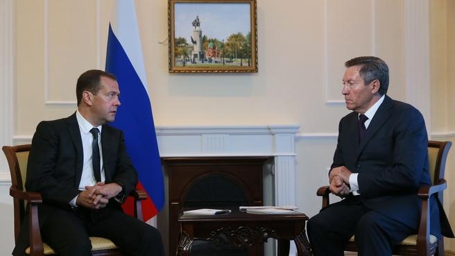 Встреча с главой администрации Липецкой области Олегом Королёвым