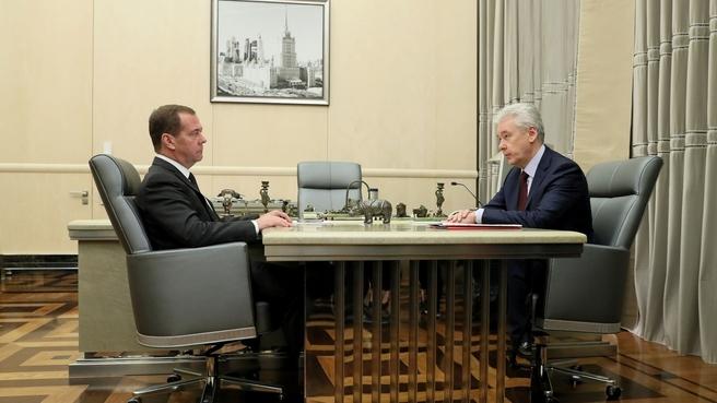 Встреча с мэром Москвы Сергеем Собяниным