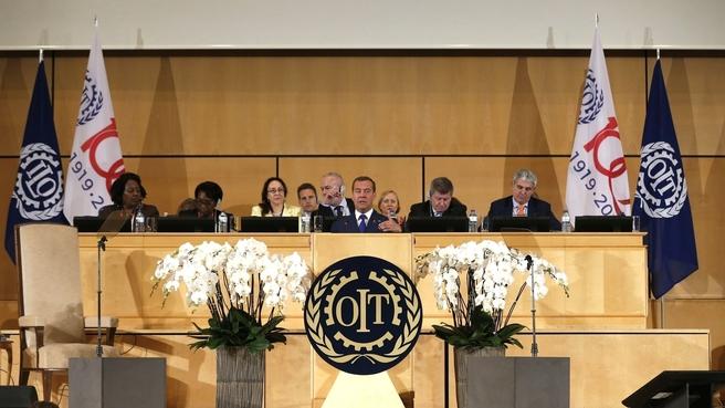 Выступление Дмитрия Медведева на пленарном заседании 108-й сессии Международной конференции труда
