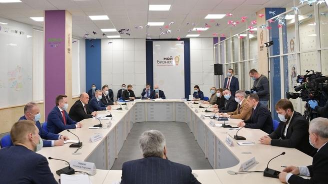 Встреча Михаила Мишустина с представителями малого и среднего бизнеса Республики Карелия