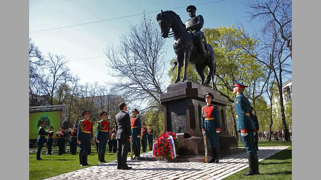 Открытие памятника Маршалу Советского Союза Рокоссовскому