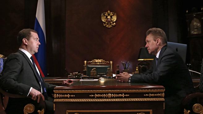 Встреча с председателем правления ОАО «Газпром» Алексеем Миллером