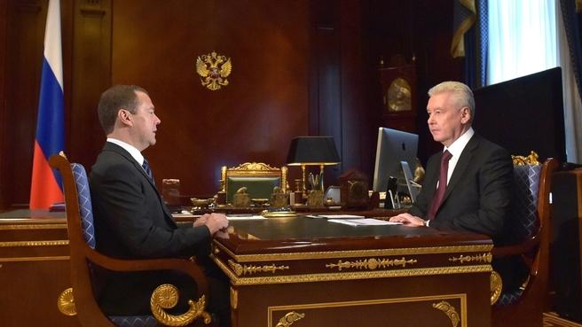Встреча c мэром Москвы Сергеем Собяниным