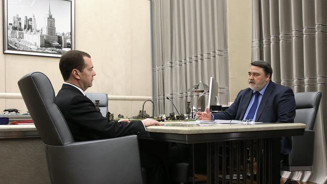 Встреча с руководителем Федеральной антимонопольной службы Игорем Артемьевым