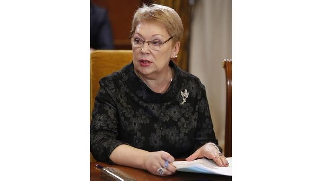 Доклад Ольги Васильевой на заседании президиума Совета при Президенте России по стратегическому развитию и национальным проектам
