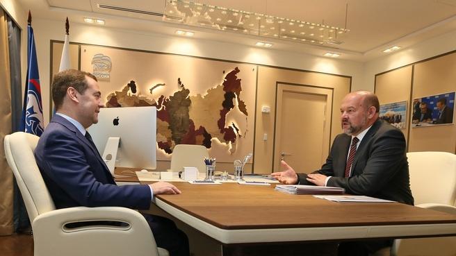 Встреча с губернатором Архангельской области Игорем Орловым
